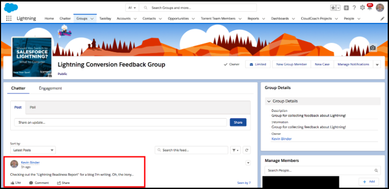 Collecting Salesforce Classic User Feedback.