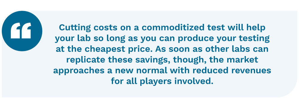 Quotation on the dangers of cost containment
