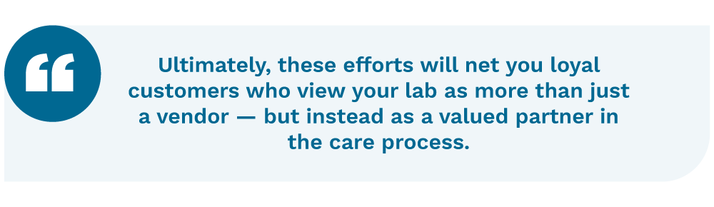Quotation on the rewards of clinical laboratory consulting