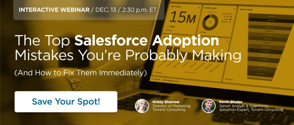 [Interactive Webinar] The Top Salesforce Adoption Mistakes You
