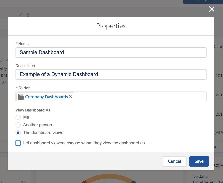 Creating a dynamic Salesforce dashboard.