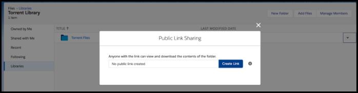 Public link sharing